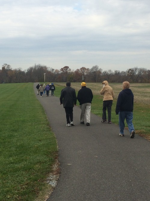 Walking Group at Marlton Park in Woodstown.