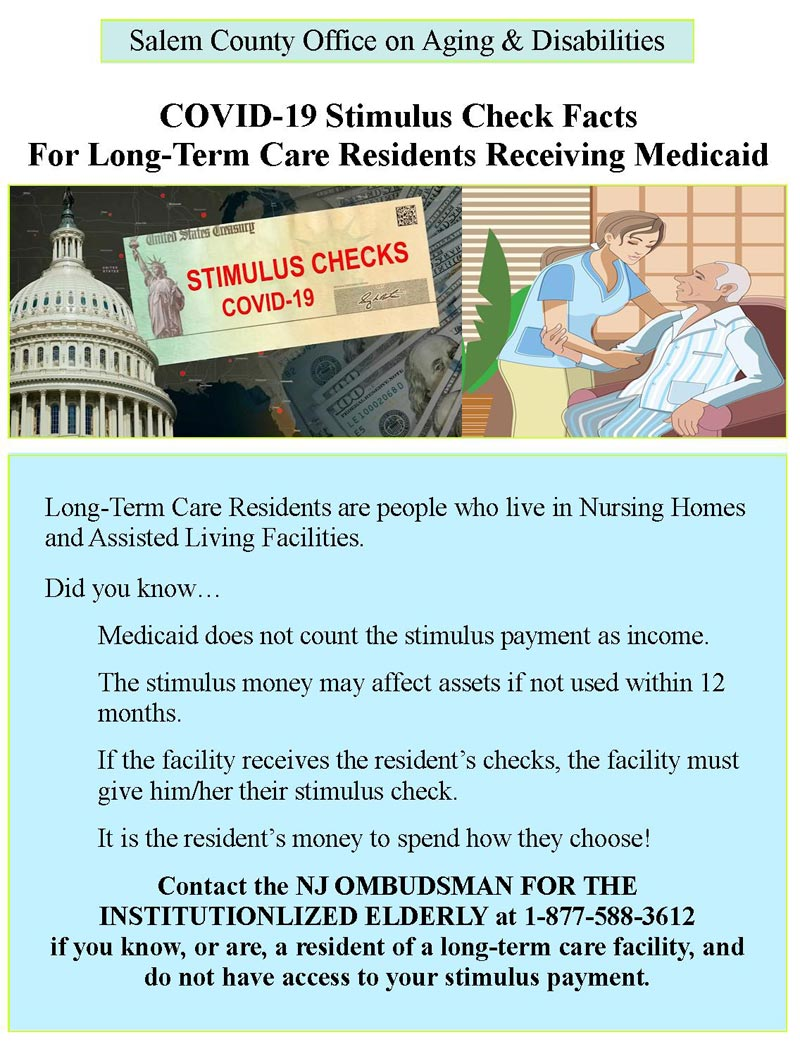 Flier for Stimulus Check Information