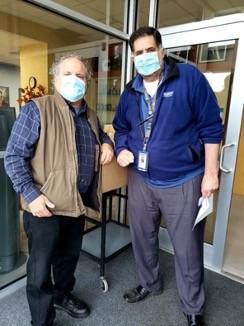 Men in surgical masks