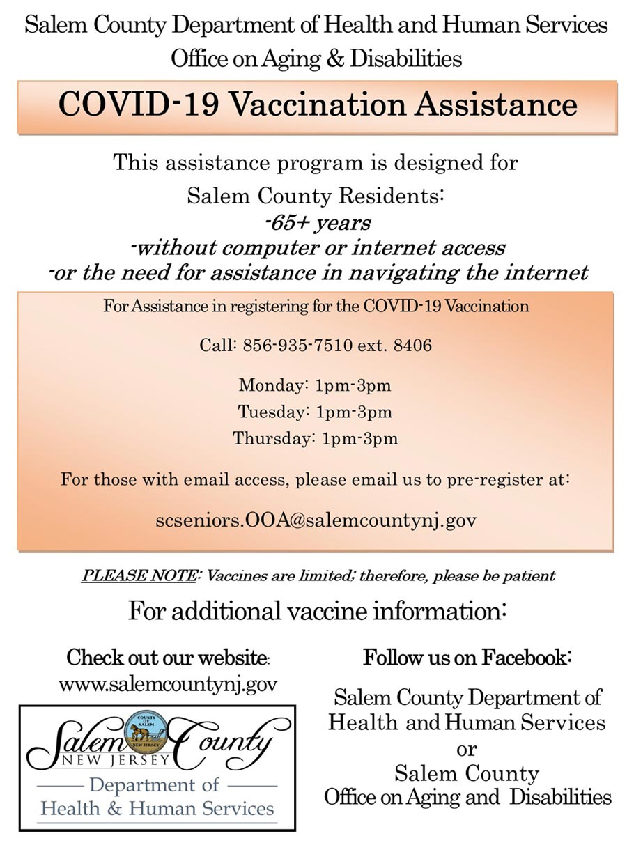 Vaccination assistance for seniors