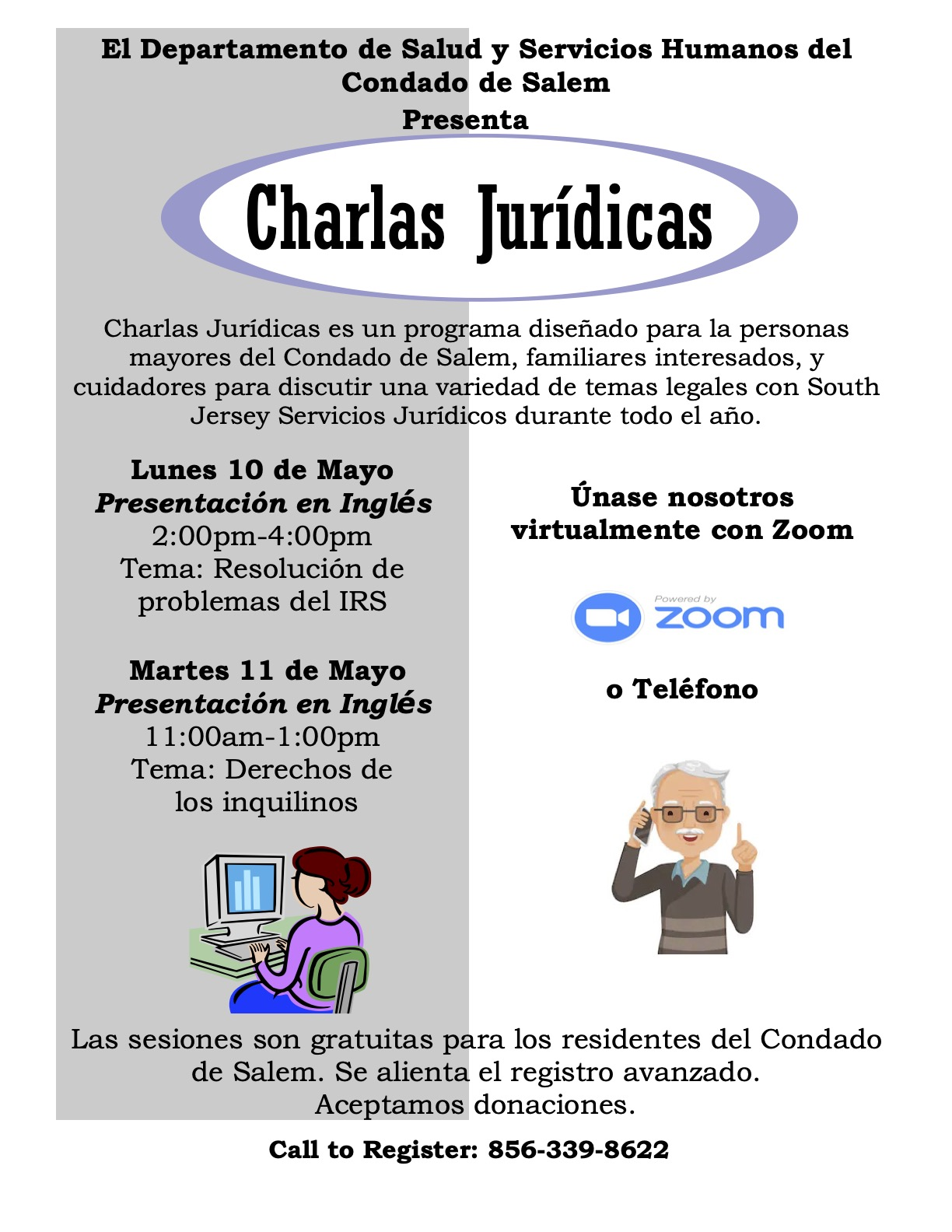 May 2021 Legal Talks Flier in Spanish