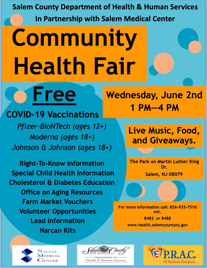 Community Health Fair flier