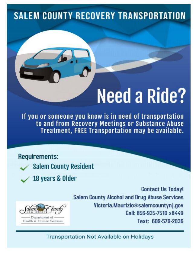 Salem County Recovery Transportation